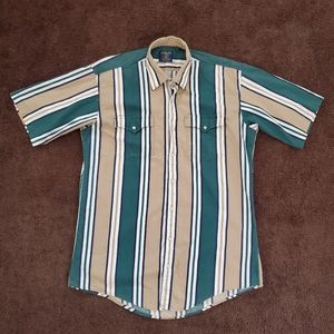 Vintage Salmon River Pearl Snap Western Shirt